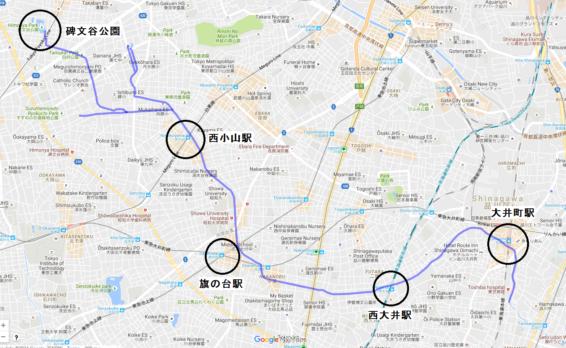 Google 立会川マップ